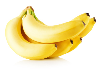 fresh bananas isolated on a white background