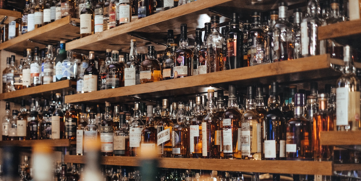 Auswahl guter Whiskys